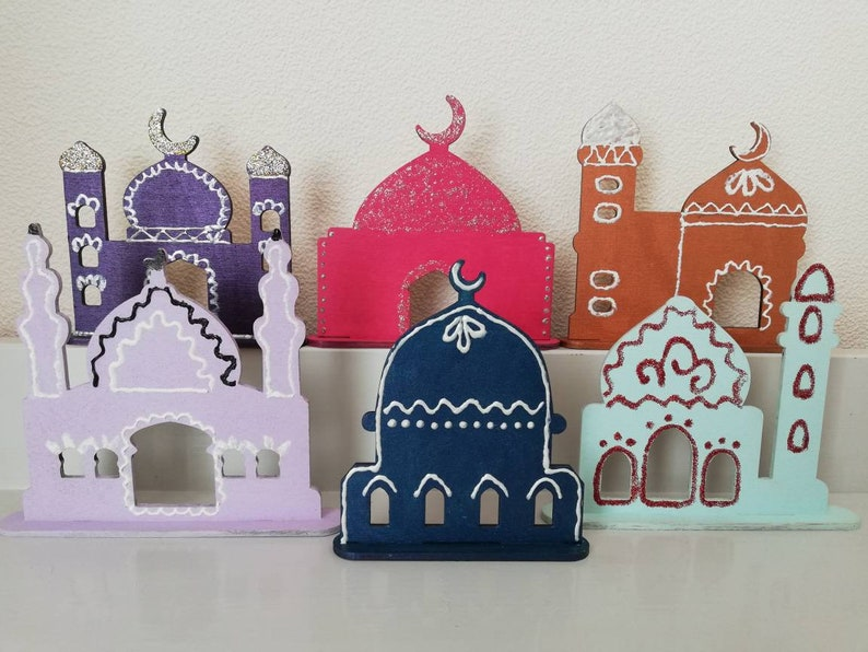 Wooden laser cut mosque, diy mosque, muslim kids crafts, Islamic diy  crafts, home decor mosque, muslim children hobby kit, Eid decoration