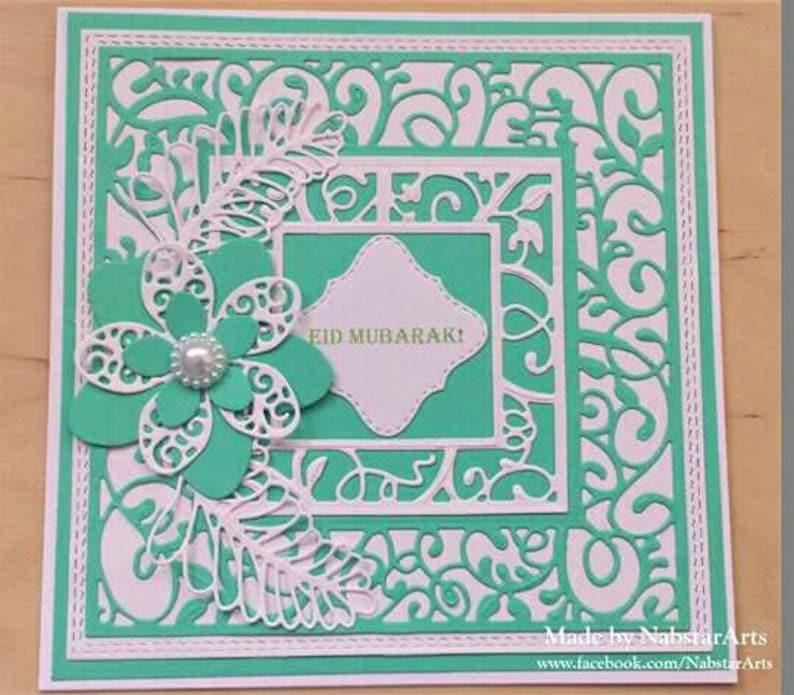 eid greeting Handmade Eid greeting card eid decoration eid celebration islamic greeting cards eid mubarak card eid gift