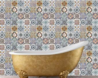 Walplus pegatina decoración etiqueta contemporánea mediterránea azulejos mosaico patrones pared arte Fliesenaufkleber