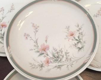 Noritake Keltcraft Misty Isle Collection Deerfield Set of 4 Salad Plates 9159 Ireland Floral Flowers