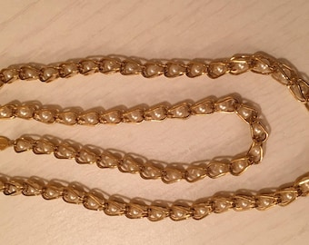 Vintage Napier Gold Tone and Faux Pearl Necklace - 24 inches