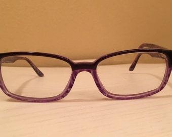 Marc Jacobs Women's Eyeglasses - Black at top half and Purple on Bottom half
