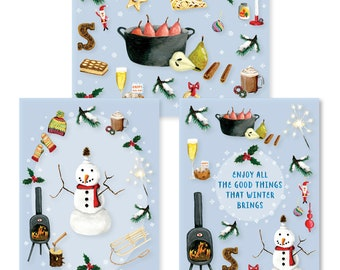 Winter tickets - cheap set of 9 cards