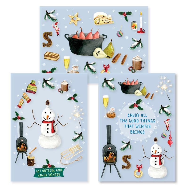 Winter tickets  cheap set of 9 cards zonder envelop