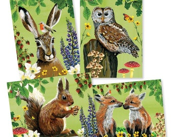 Adventure in the forest • Special set of 4 cards