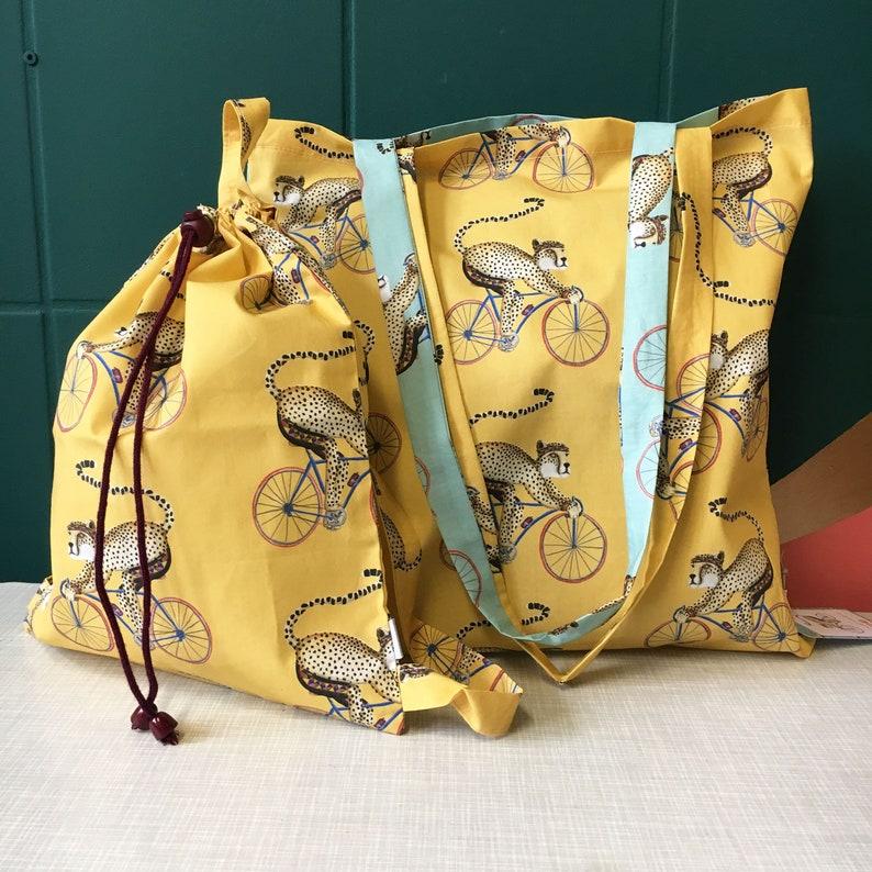 Maxi & Mini Set yellow backpack  Cheeta on road bike image 0