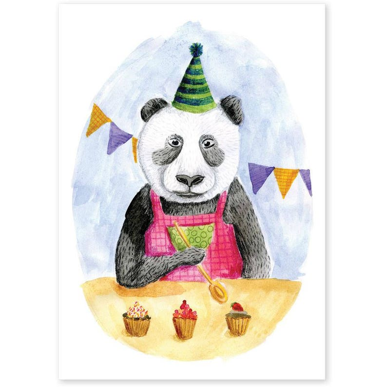 Animal Friends  Panda Bakes Cupcakes image 0