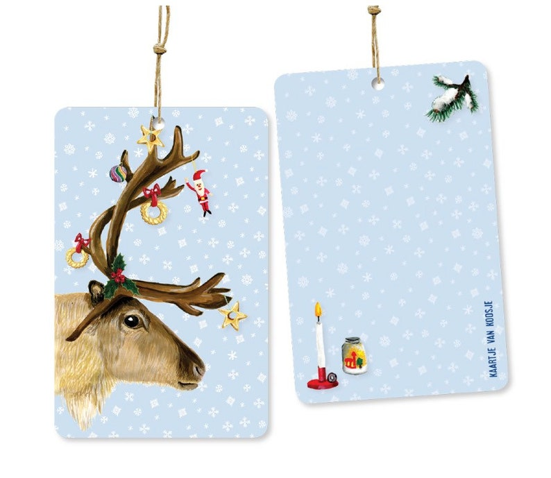 Christmas gift labels  6 pieces image 1