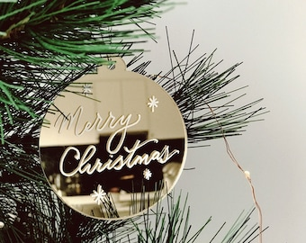 Personalised Acrylic Christmas Bauble | Christmas Ornament