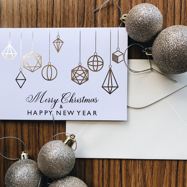 Merry Christmas & Happy New Year  Christmas Greeting Card image 0