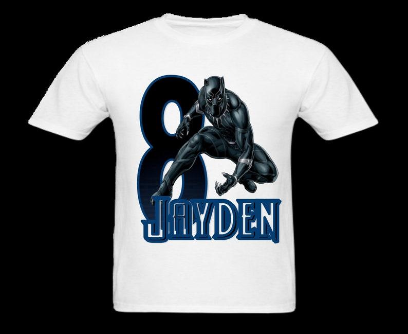 5ad65c092 Personalized Black Panther inspired Custom birthday shirt | Etsy