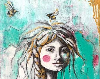 The Bee Keeper - 8x10 Fine Art Print