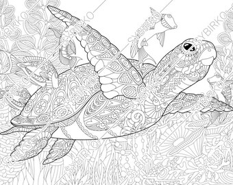 Adult Ocean Coloring Pages Printable Coloring Page For Adults ... | 270x340