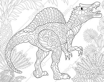 pterodactyl dinosaur pterosaur dino coloring pages animal etsy. Black Bedroom Furniture Sets. Home Design Ideas