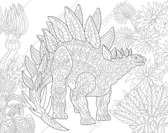 Pterodactyl Dinosaur. Pterosaur. Dino Coloring Pages. Animal | Etsy