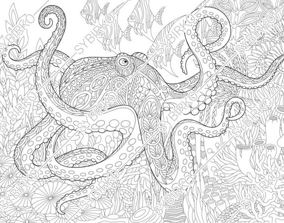 32 Sea Life Coloring Pages For Adults - Free Printable Coloring Pages