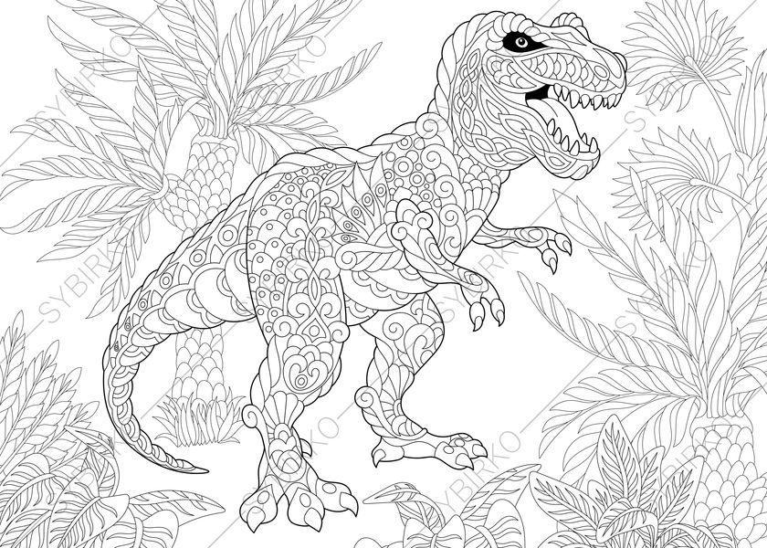 Tyrannosaurus Dinosaur. T rex. Dino Coloring Pages. Animal ...