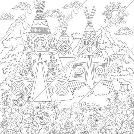 Free Free Coloring Pages Of Indians American, Download Free Clip ... | 570x570