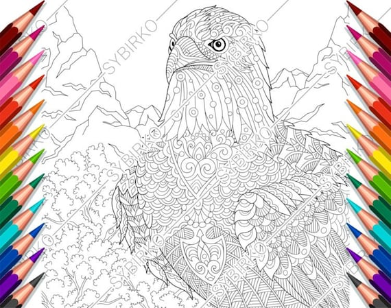 Zenart. Coloring book page for adults. Hand-drawn figure of an ... | 449x570