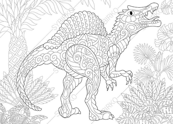 Spinosaurus Dinosaur. Dino Coloring Pages. Animal coloring ...