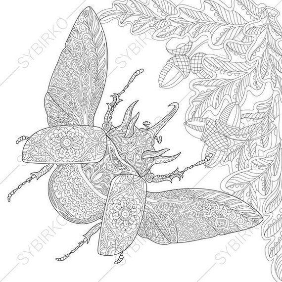 rhinoceros beetle coloring pages - photo#31