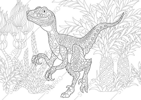 Printable Jurassic World Velociraptor Coloring Pages Pdf to Print ... | 407x570