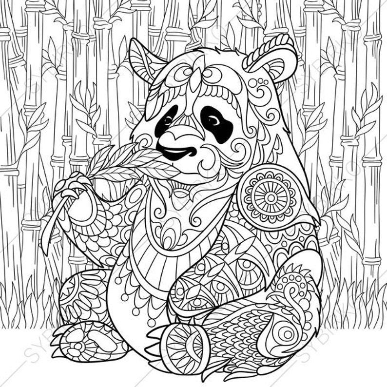 Agile image with regard to panda coloring pages printable