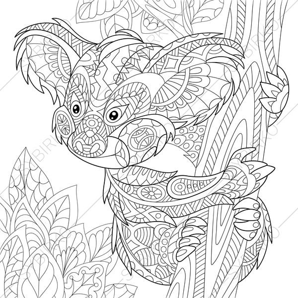 koala bear coloring pages - photo#20