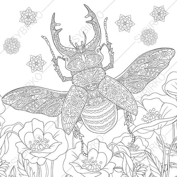Stag beetle coloring pages - Hellokids.com  |Stag Beetle Coloring Page