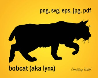 lynx silhouette etsy