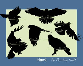 photograph relating to Printable Hawk Silhouette for Window titled Hawk Etsy
