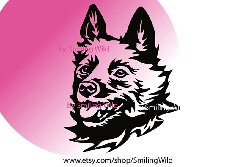 Schipperke dog svg portrait vector graphic art Schipperke cut file cuttable cricut schipperke digital design