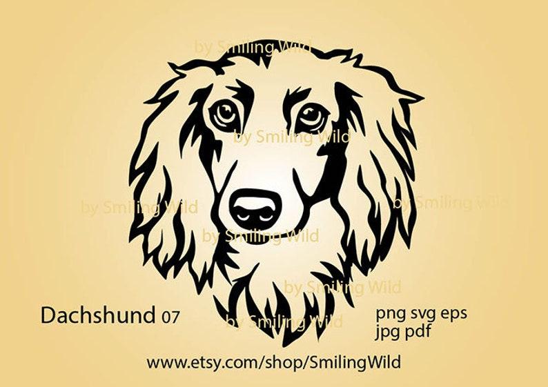 Dachshund long haired svg clipart portrait Dachshund dog head peeking vector graphic art cut file cuttable cricut Dachshund digital design