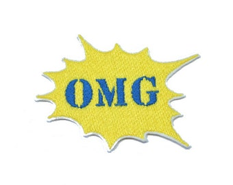 OMG Patch Iron On  Applique Embroidered Patches Machine Embroidery Design for OMG-lover