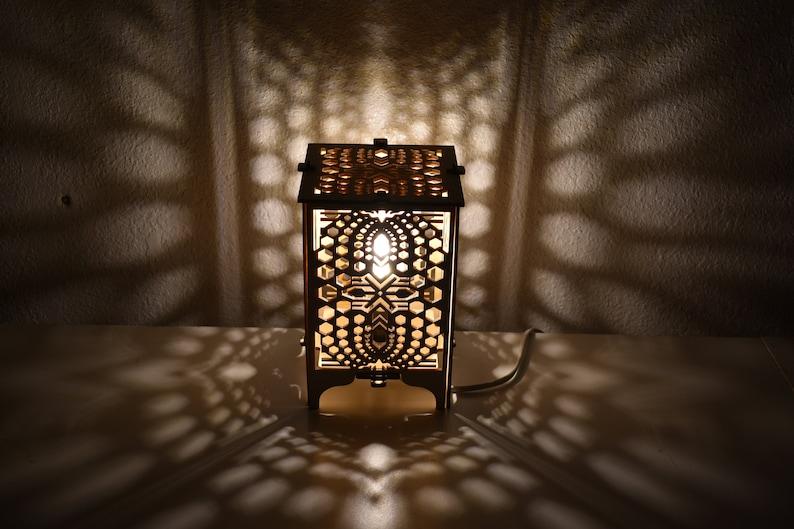 HEXAPLEX Wood Table Lamp image 0