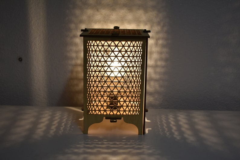 WEAVE Wood Table Lamp image 0