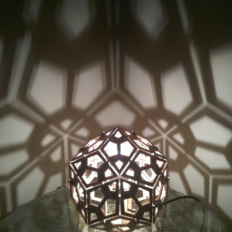 Rhombic Triacontahedron  Desk Lamp Geometric Lighting image 0