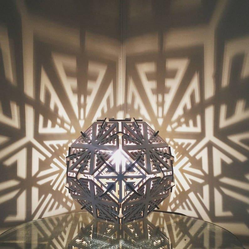 Truncated Octahedron  Shadow Lamp  Desk Geometric Lighting image 0