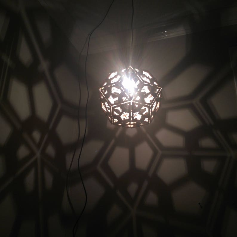 Rhombic Triacontahedron Lamp  Hanging Ceiling Pendant Light image 0