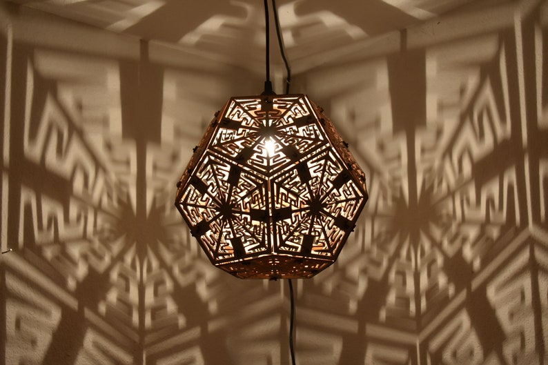 Dodecahedron  Hanging Ceiling Pendant Geometric Lighting image 0