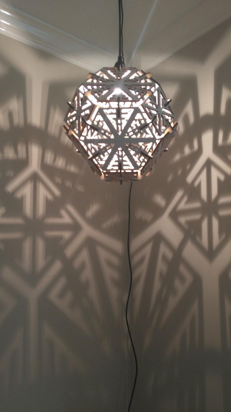 Truncated Octahedron Lamp  Hanging Ceiling Pendant Geometric image 0