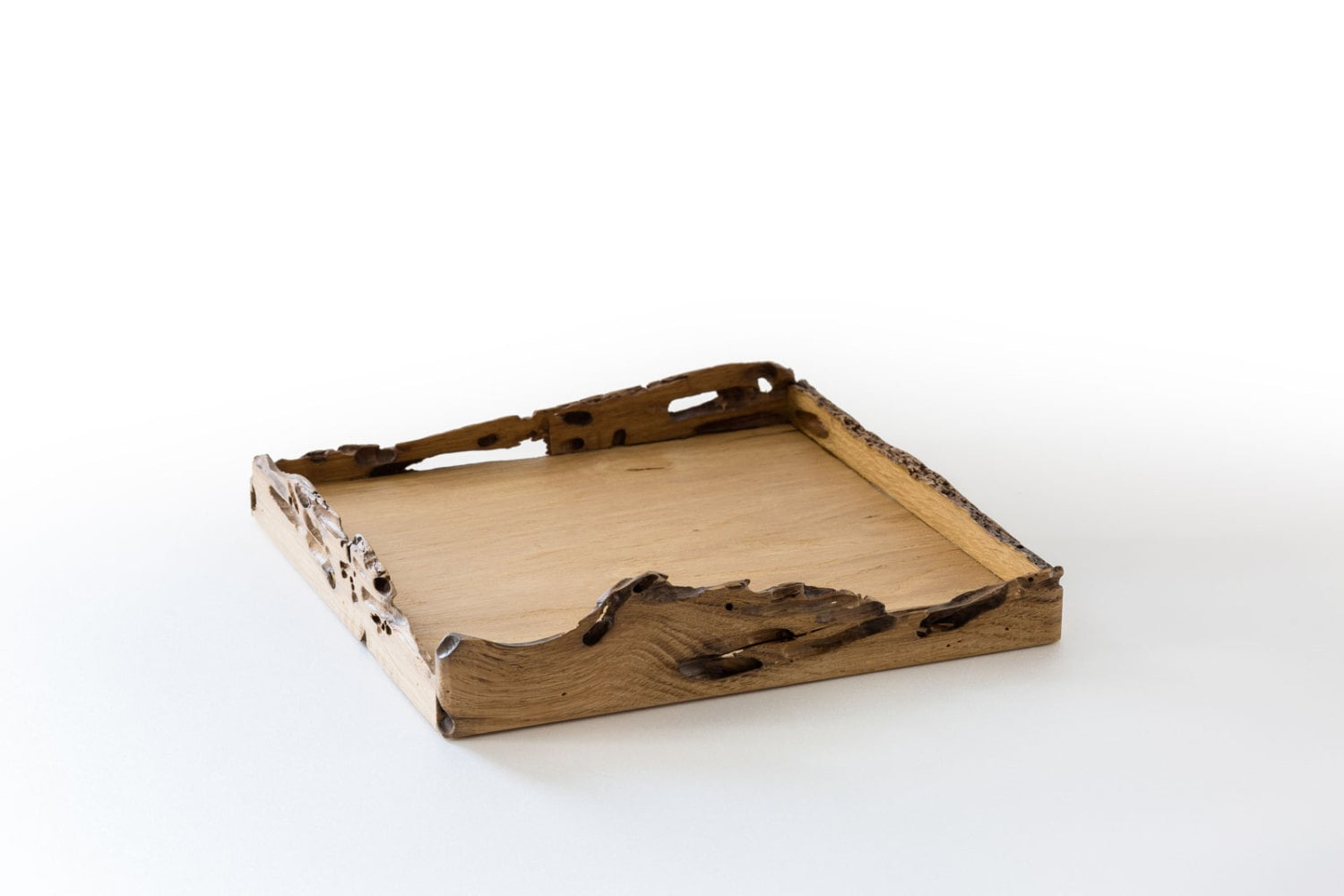 Square Tray in Briccola Wood