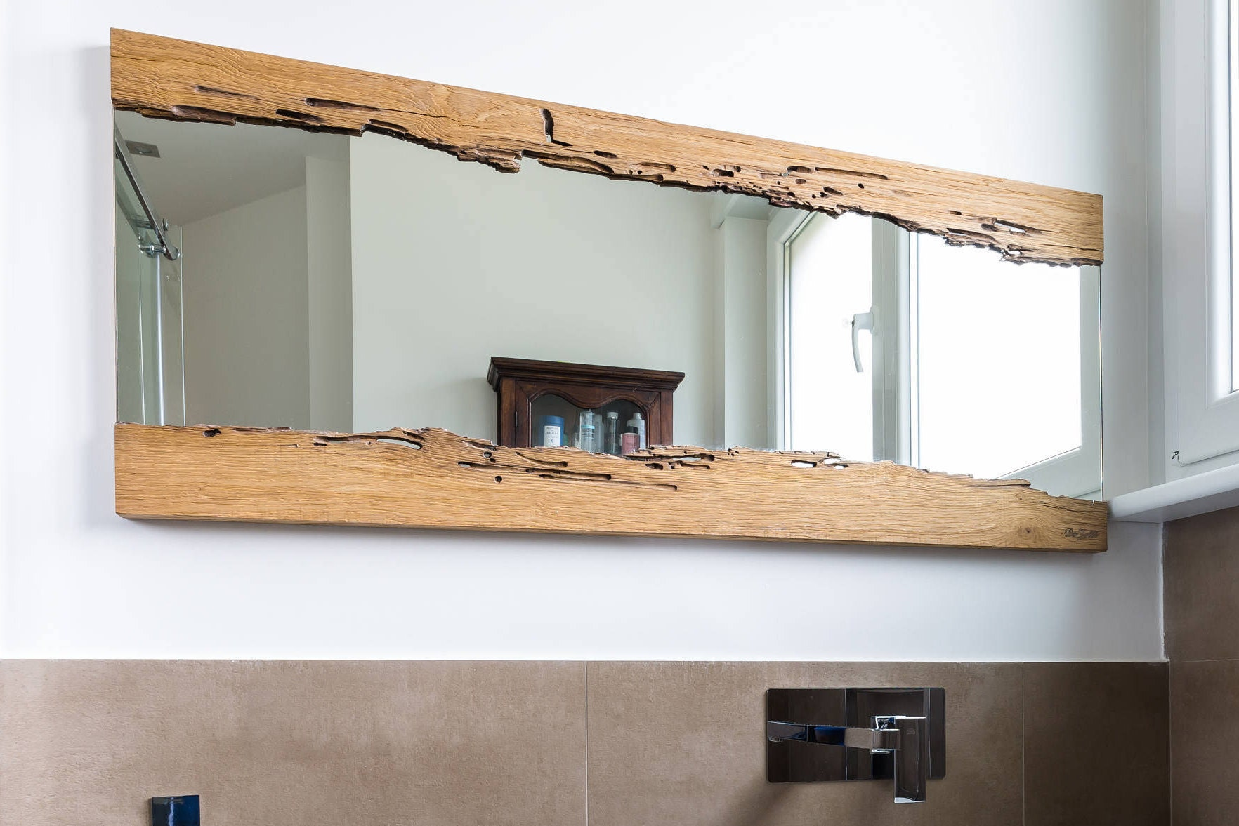 Wooden Mirror 1000x500mm