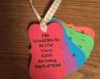 Personalized favor/gift tags