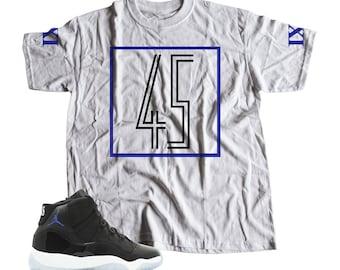 285eba050fe0 Jordan SPACE JAM 11 s Sneaker Match T-Shirt Tees
