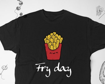 a4a6ffd6 Fry Day Potato T-shirt Food Shirt French Fries Shirt Funny Food T-shirt  Unisex Tee French Fry Tshirt Veg Shirt Funny T-shirt Mens Tshirt 075