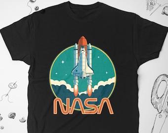 1ed5cdfdc NASA shirt Vintage Men Women Girl tee t shirt tshirt 1990s 90s Astronomy  vtg Nerd Graphic shirt Space Rocket Science Unisex shirt Gift idea