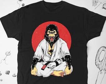 87265e875 Jujitsu shirt Vintage Men Women Girl tee t shirt tshirt Japanese Jiujitsu Graphic  shirt Martial Arts Animal Gorilla Unisex shirt Gift idea