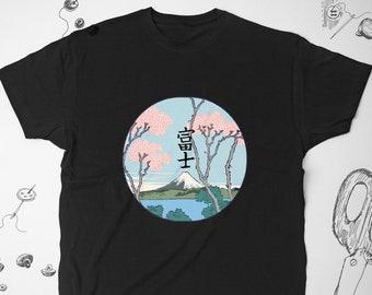 55a68075 Kanji shirt for Women Men Girl t shirt tshirt Aesthetic Nature In Japanese  Graphic tee Tumblr Japan Fuji Mountain Flowers Sakura Unisex gift