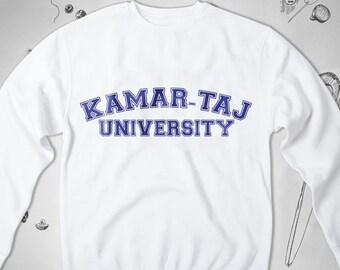 60f56e480d University Kamar-Taj Funny sweatshirt Student Men Women unisex Graphic  sweatshirt Saying Geek Nerd Magic Boyfriend Crewneck sweatshirt Gift